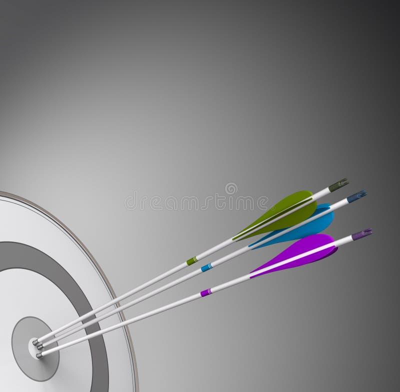 Conceito competitivo do fundo do negócio - conseguindo a excelência ilustração do vetor