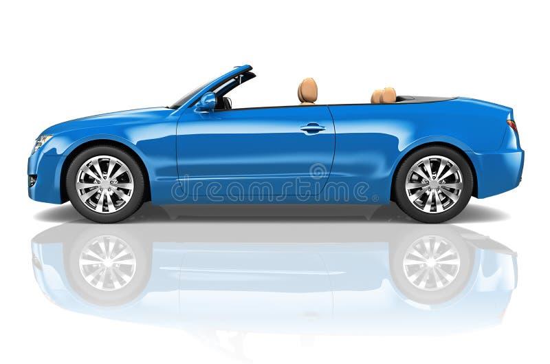 Conceito convertível da ilustração do transporte 3D do carro ilustração do vetor
