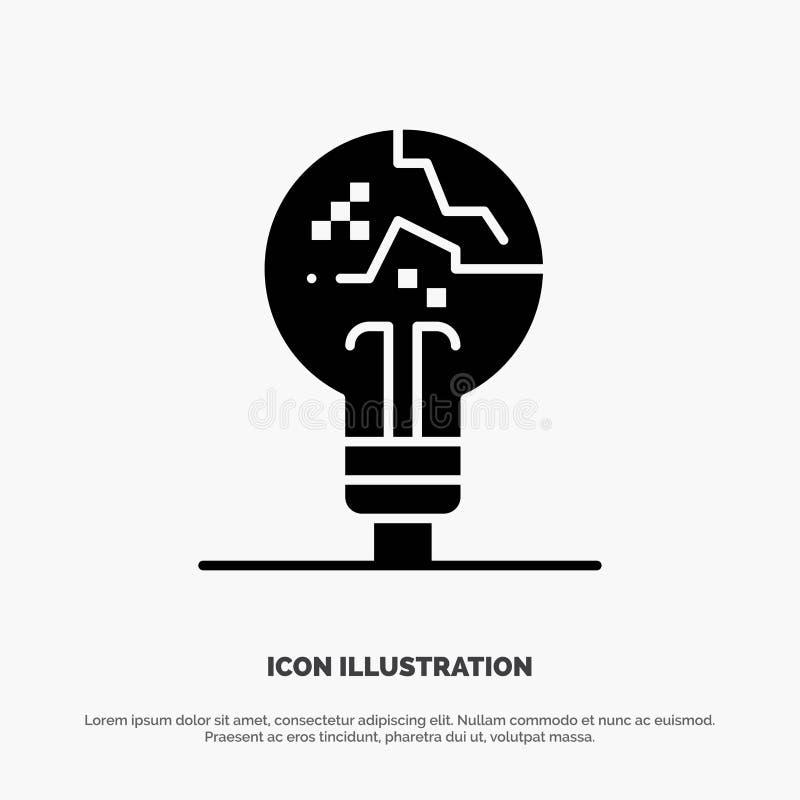Conceito, copiador, falha, falsificação, vetor contínuo do ícone do Glyph da ideia ilustração do vetor