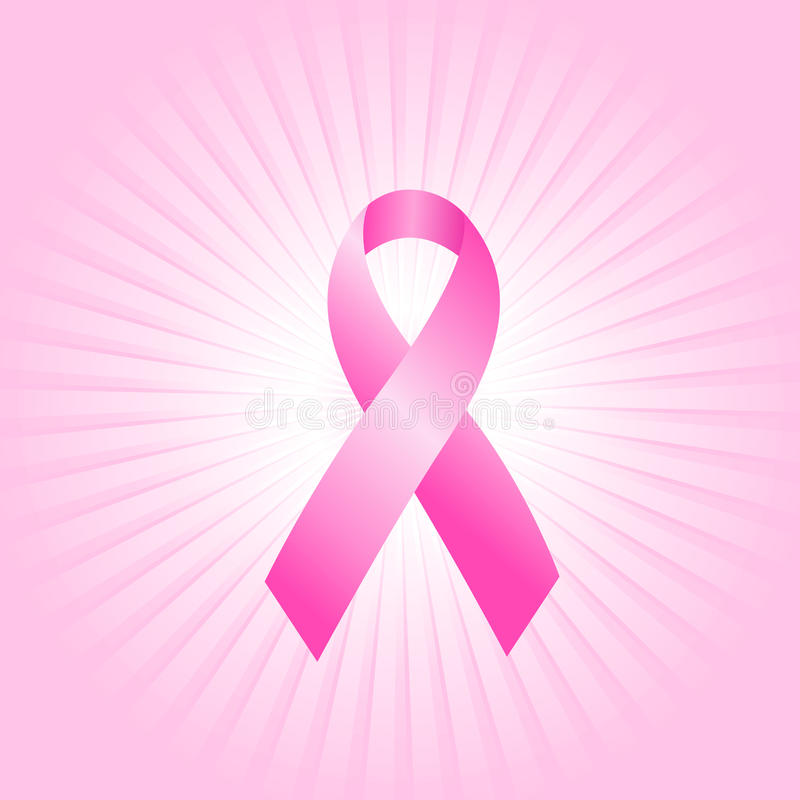 Conceito cor-de-rosa da fita ilustração royalty free