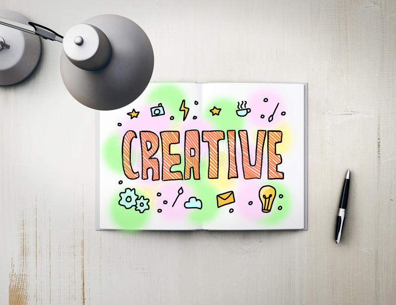Conceito creativo ilustração do vetor