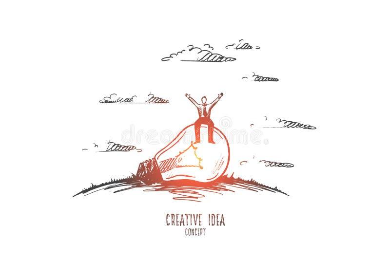 Conceito creativo da idéia Vetor desenhado mão ilustração stock