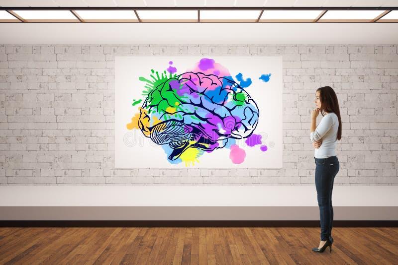 Conceito creativo da mente ilustração stock