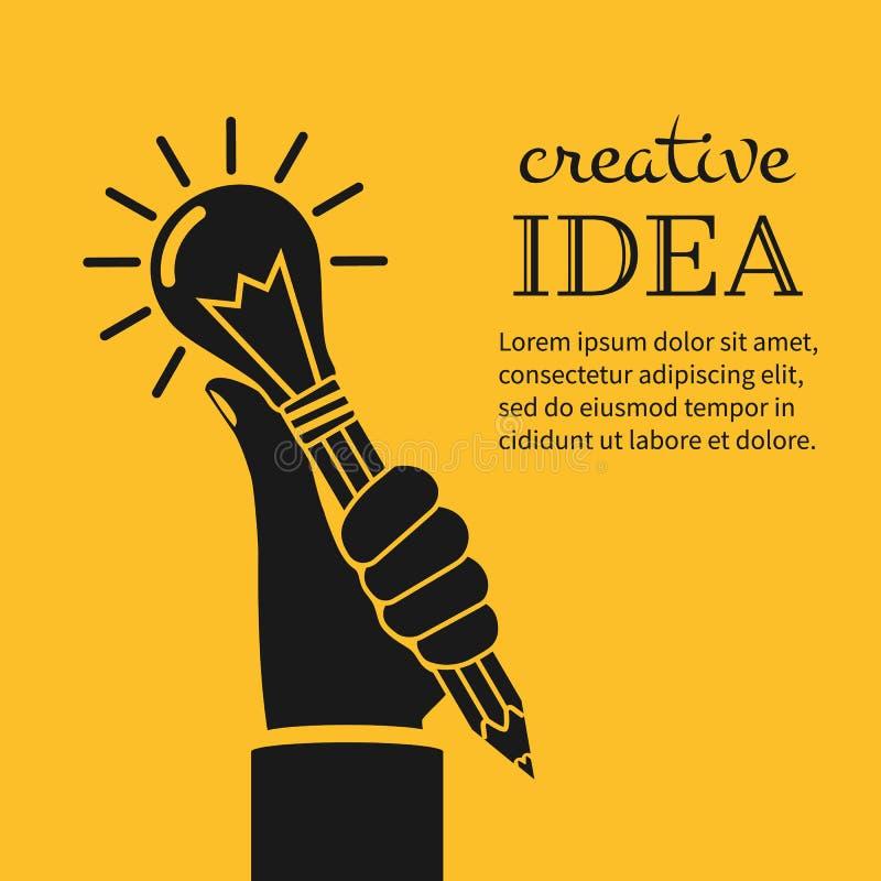 Conceito creativo das idéias ilustração stock