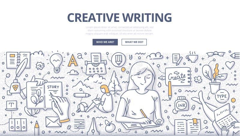 Conceito criativo da garatuja da escrita ilustração royalty free