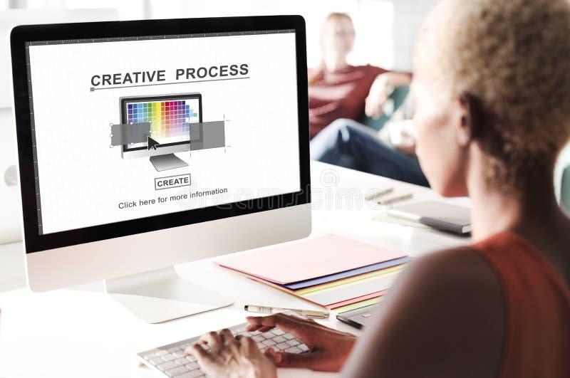 Conceito criativo da inspiração da imaginação do projeto de processo fotografia de stock royalty free