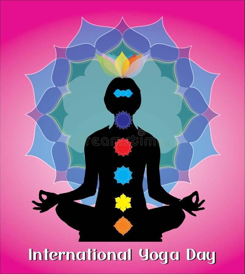 Conceito criativo do dia internacional da ioga fotografia de stock royalty free