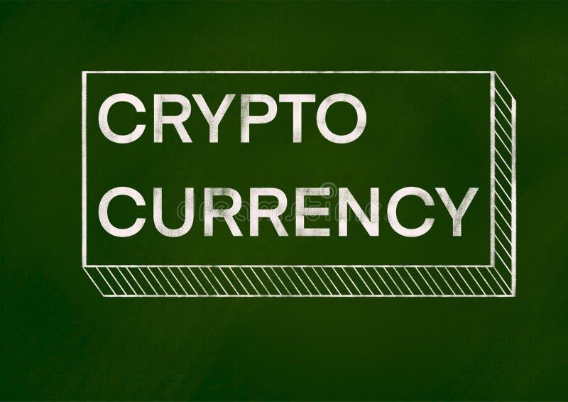 Conceito cripto do fundo da moeda ilustração do vetor