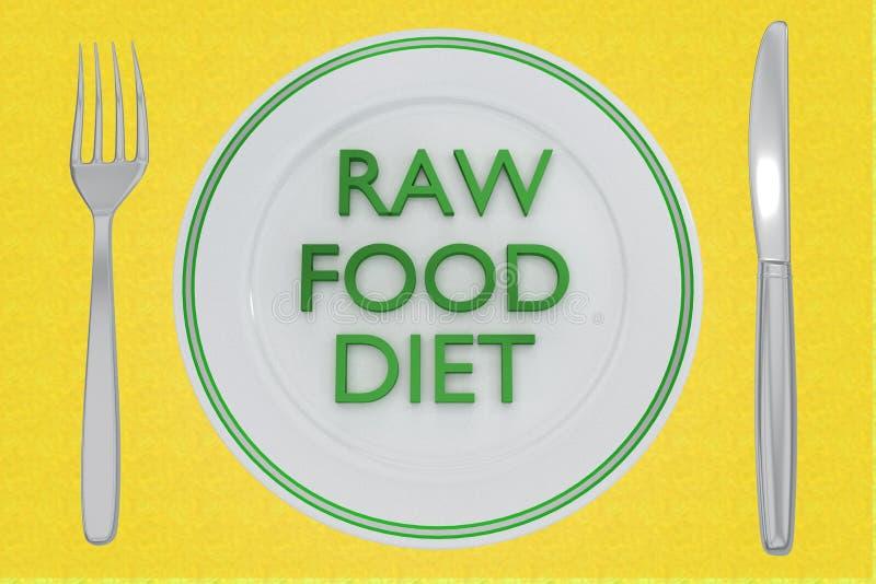 conceito cru da dieta de alimento ilustração do vetor