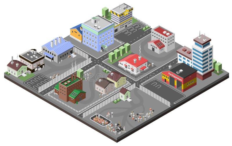 Conceito da área industrial ilustração do vetor
