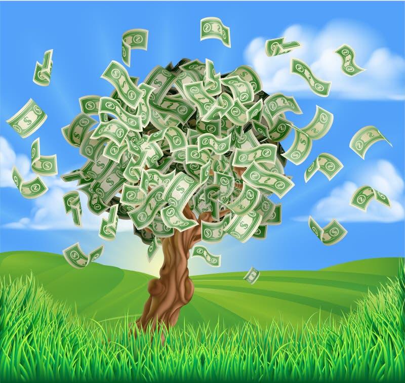 Conceito da árvore do dinheiro ilustração stock