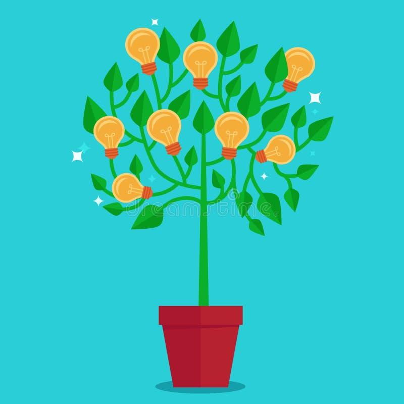 Conceito da árvore do vetor no estilo liso - ilustração stock