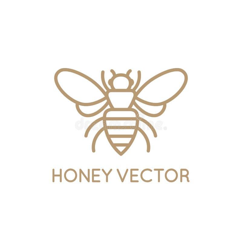 Conceito da abelha do mel ilustração stock