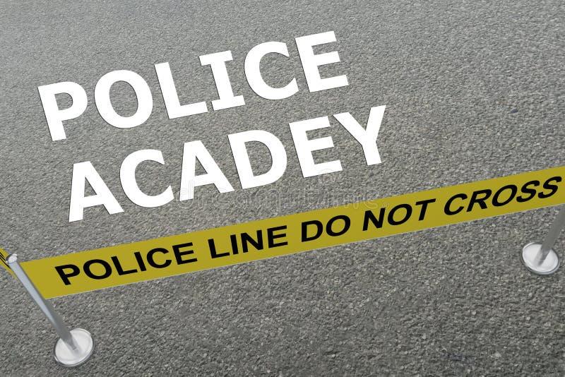 Conceito da academia de polícia ilustração do vetor