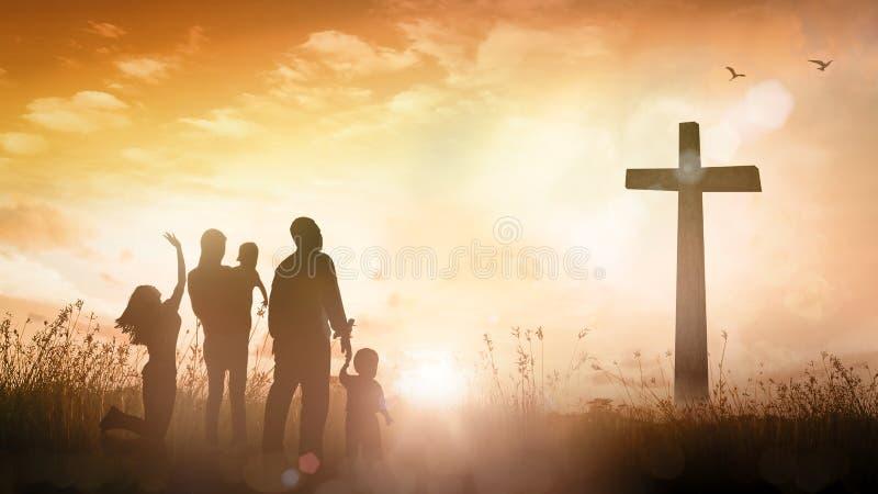 Conceito da adoração da família foto de stock
