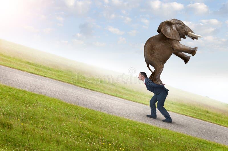 Conceito da adversidade do negócio imagem de stock