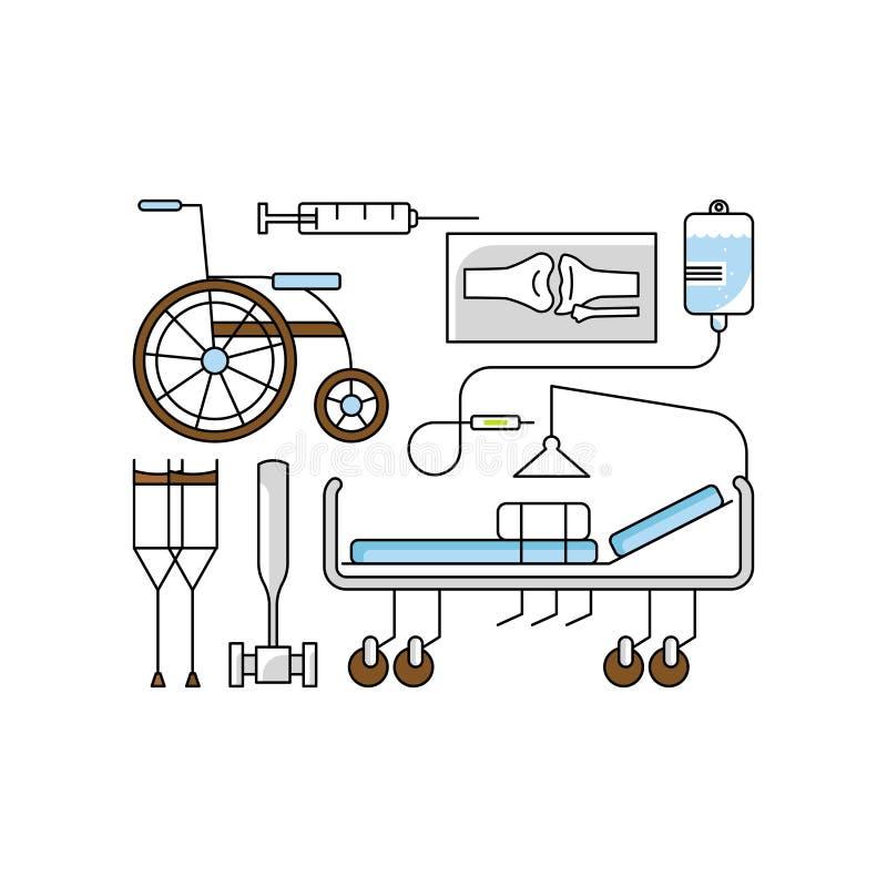 Conceito da ajuda médica ilustração stock