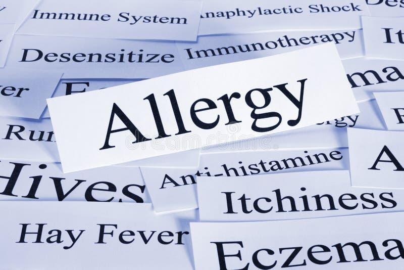 Conceito da alergia fotos de stock royalty free