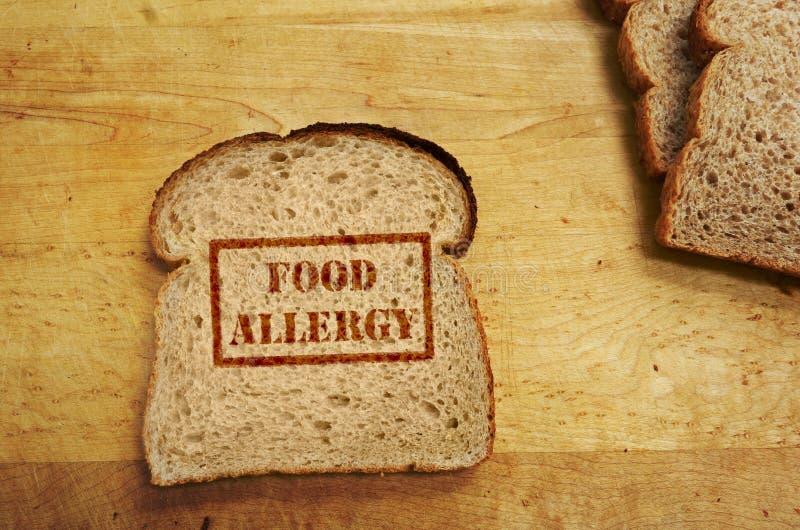 Conceito da alergia de alimento fotografia de stock royalty free