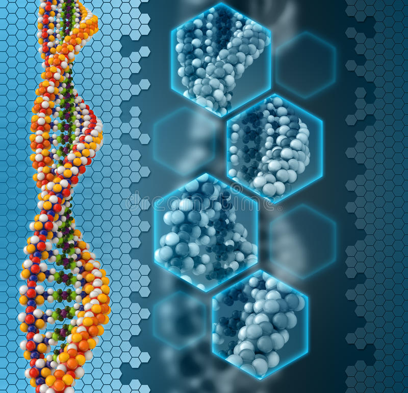 Conceito da análise do ADN ilustração do vetor