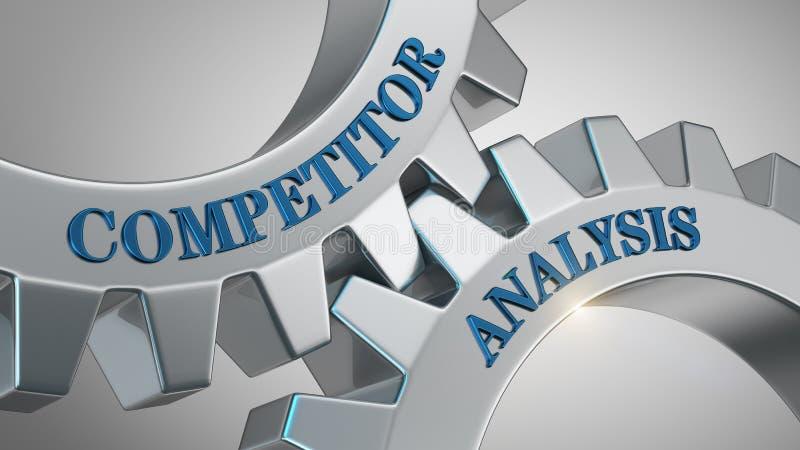 Conceito da análise do concorrente ilustração royalty free