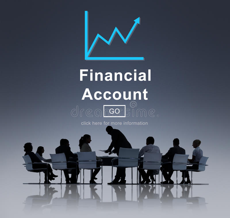 Conceito da análise do crescimento do dinheiro do dinheiro da contabilidade financeira fotografia de stock royalty free