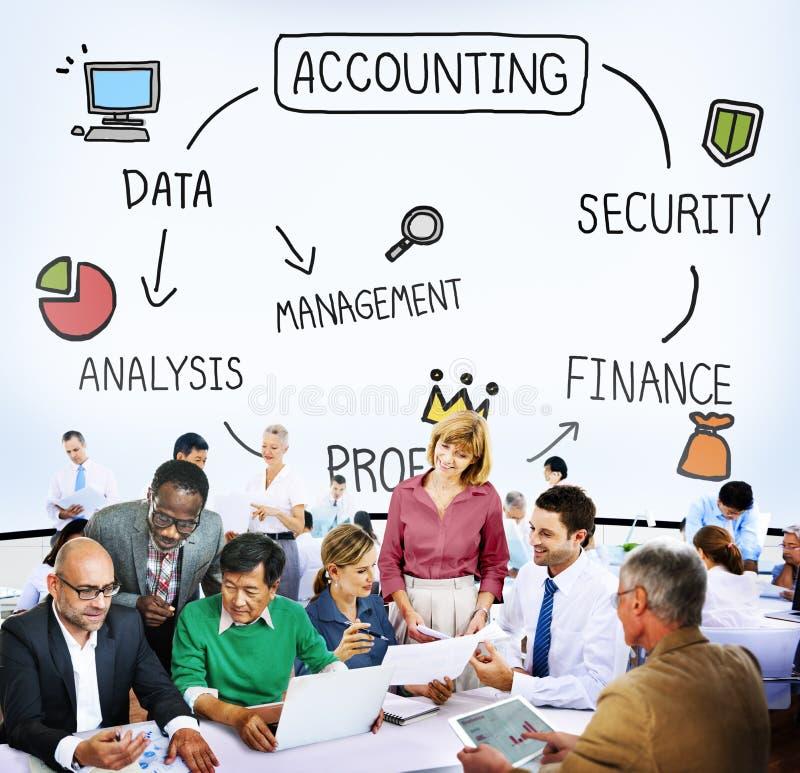 Conceito da análise do lucro do gerenciamento da segurança da contabilidade fotografia de stock royalty free