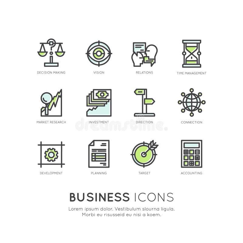 Conceito da análise do negócio e da finança ilustração do vetor