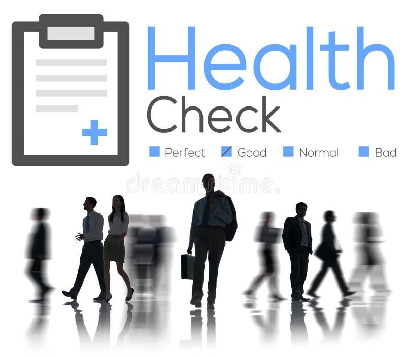 Conceito da análise do problema médico do diagnóstico do exame médico completo foto de stock