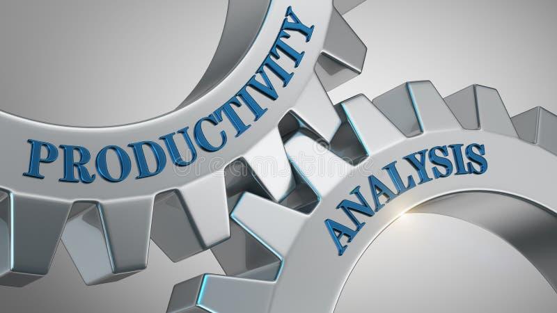 Conceito da análise da produtividade ilustração stock