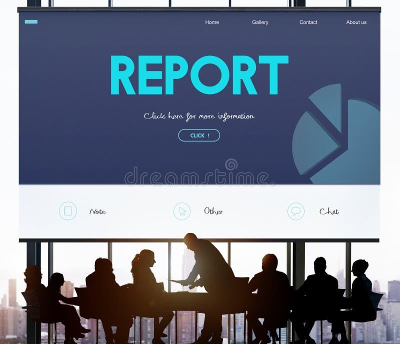 Conceito da analítica do relatório do alvo de desempenho da estratégia fotografia de stock