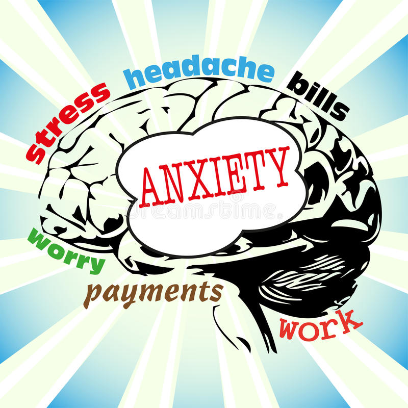 Conceito da ansiedade ilustração do vetor