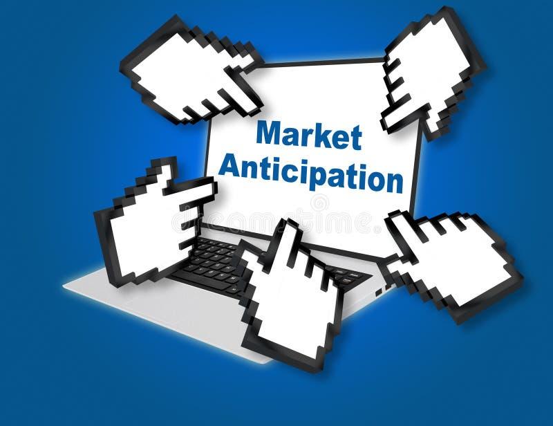 Conceito da antecipação do mercado ilustração do vetor