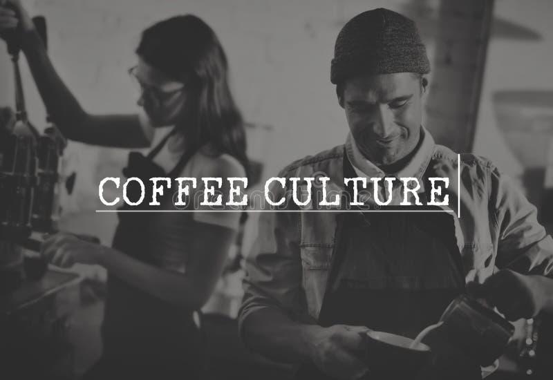 Conceito da apreciação do abrandamento da cultura do tempo da ruptura de café fotografia de stock royalty free
