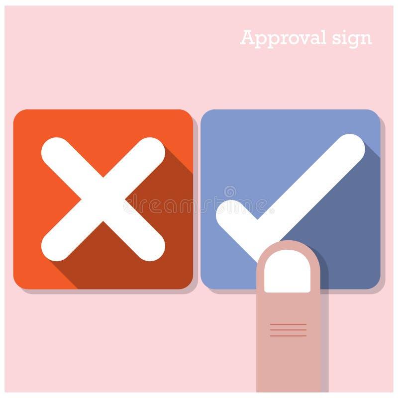 Conceito da aprovação Os melhores ícones bem escolhidos ilustração do vetor