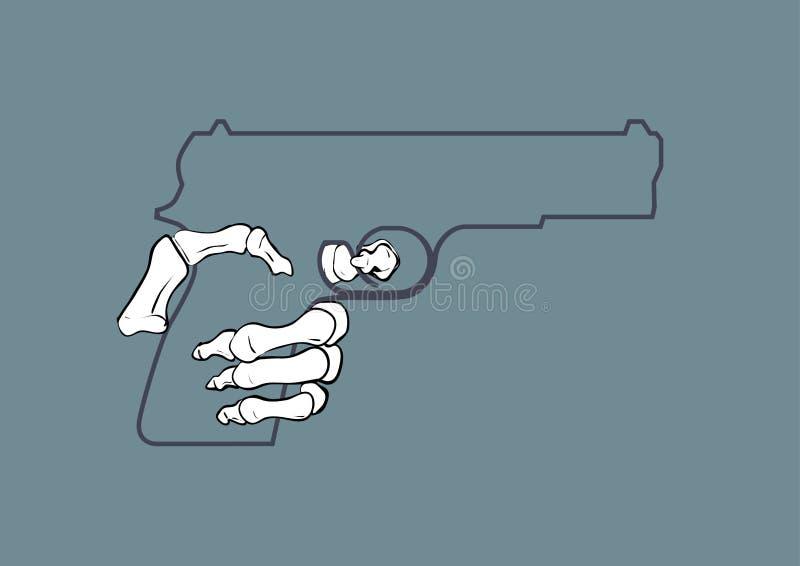 Conceito da arma da guerra ilustração stock