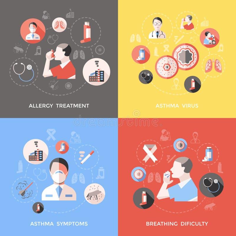 Conceito da asma brônquica ilustração royalty free