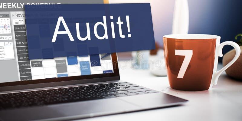 Conceito da avaliação da avaliação da contabilidade da contabilidade da auditoria imagens de stock royalty free