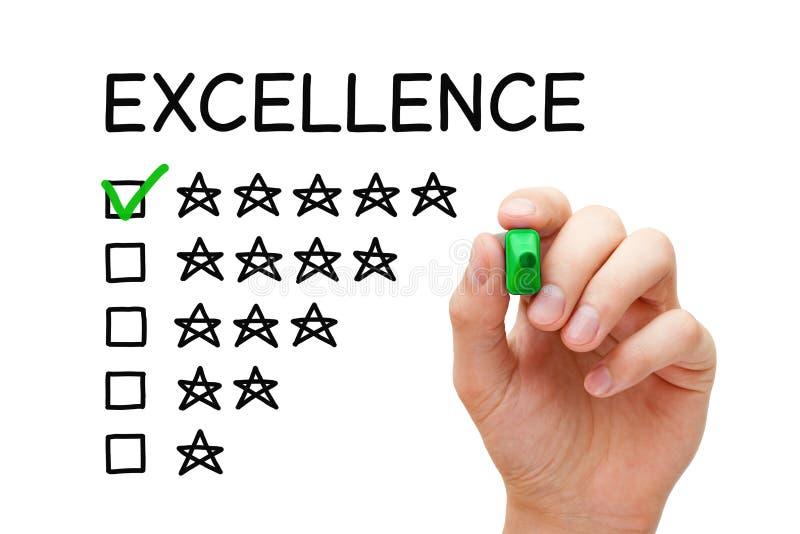 Conceito da avaliação da excelência imagens de stock