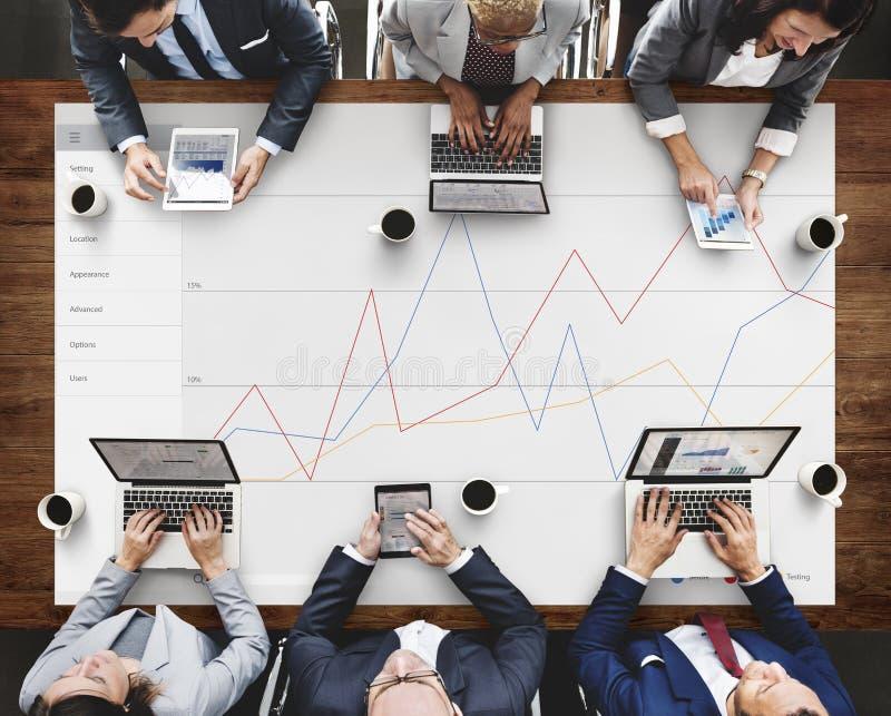 Conceito da avaliação da revisão dos resultados do feedback do negócio imagem de stock