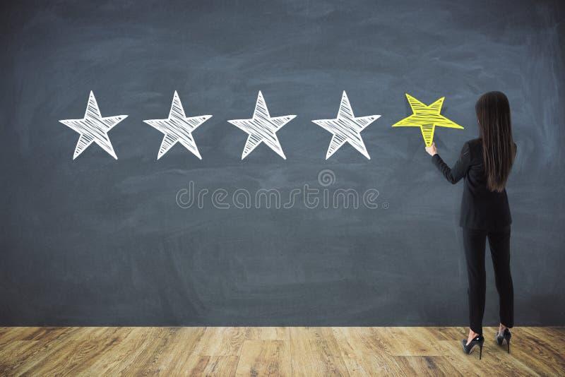 Conceito da avaliação e da avaliação imagens de stock royalty free