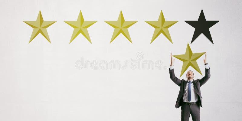 Conceito da avaliação e da revisão fotos de stock