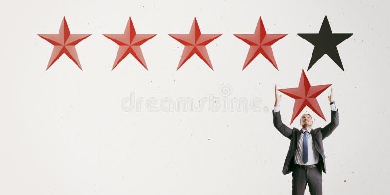 Conceito da avaliação e da revisão imagem de stock royalty free