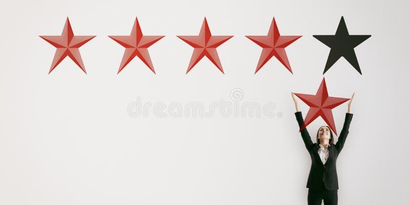 Conceito da avaliação e da revisão imagem de stock