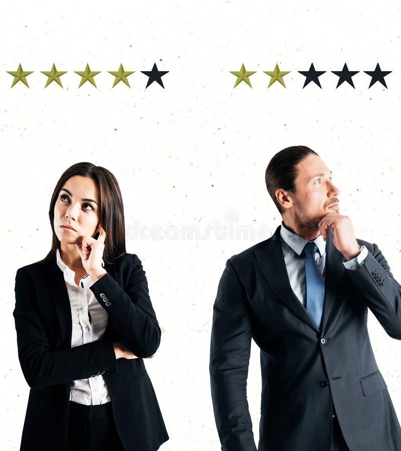 Conceito da avaliação e da revisão fotografia de stock royalty free