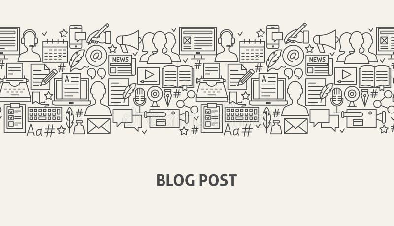 Conceito da bandeira do blogue ilustração do vetor