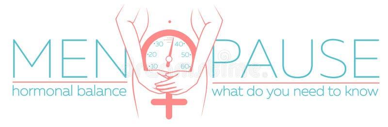 Conceito da bandeira da menopausa ilustração do vetor