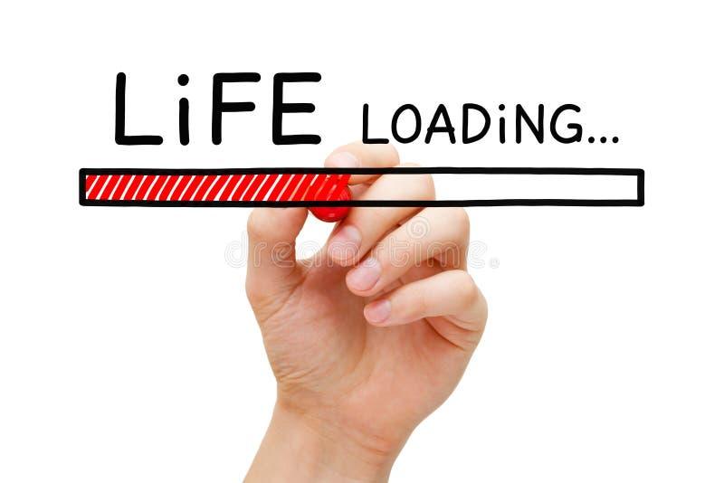 Conceito da barra de carga da vida imagens de stock