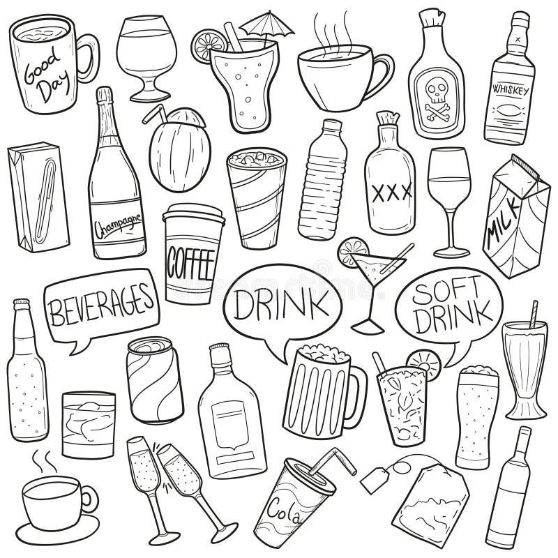 Conceito da bebida ilustração royalty free
