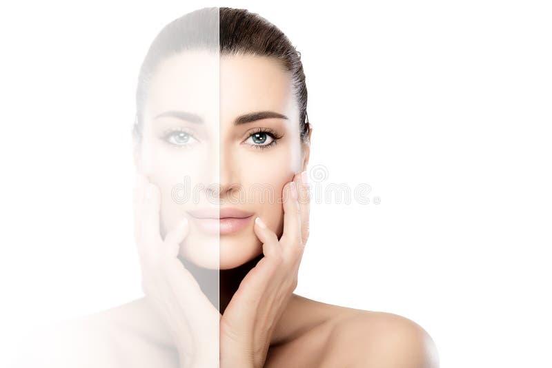 Conceito da beleza e dos cuidados com a pele dos termas foto de stock